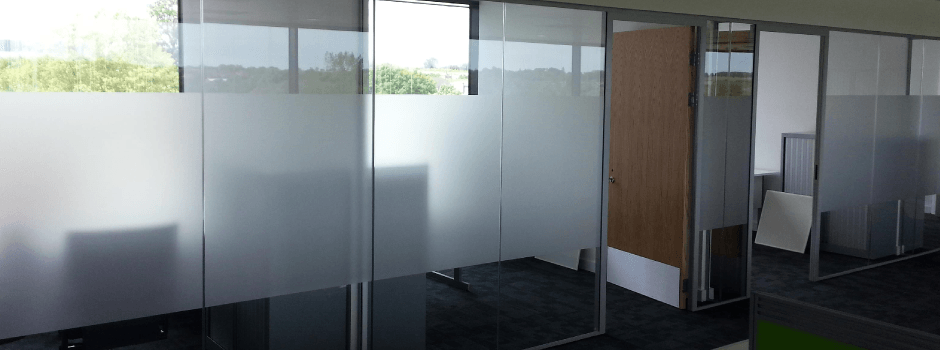 Frosted window film glass manifestations graphics cornwall for Window manifestations